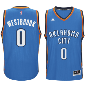 Russell Westbrook Oklahoma City Thunder adidas Player Swingman Road Jersey - Blue