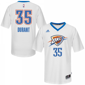 Kevin Durant Oklahoma City Thunder adidas 2014-15 Pride Swingman Jersey - White