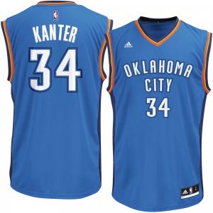Mens Oklahoma City Thunder Enes Kanter adidas Light Blue Replica Jersey