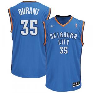 Kevin Durant Oklahoma City Thunder adidas Replica Road Jersey - Light Blue
