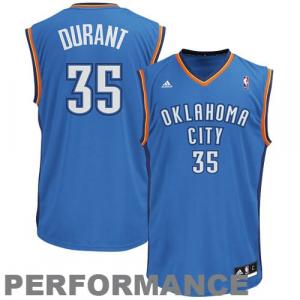 Kevin Durant Oklahoma City Thunder adidas Youth Swingman Away Jersey - Light Blue