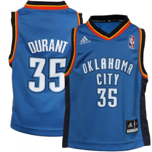 Kevin Durant Oklahoma City Thunder adidas Toddler Replica Jersey - Light Blue