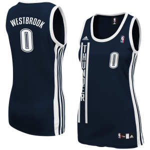 Russell Westbrook Oklahoma City Thunder adidas Women's Replica Jersey - Navy Blue