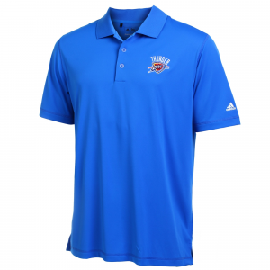 Oklahoma City Thunder adidas Puremotion Solid Jersey Polo - Royal Blue