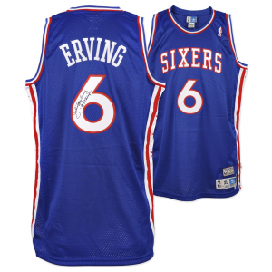 Julius Erving Philadelphia 76ers Fanatics Authentic Autographed Adidas Swingman Blue Jersey with 83 Champs Inscription