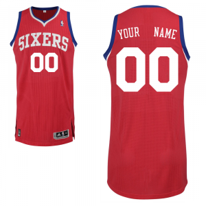 Philadelphia 76ers adidas Custom Authentic Road Jersey - Red