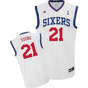 Thaddeus Young Philadelphia 76ers adidas Replica Home Jersey - White