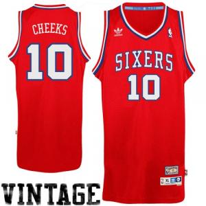 Maurice Cheeks Philadelphia 76ers adidas Hardwood Classics Soul Swingman Throwback Jersey - Red