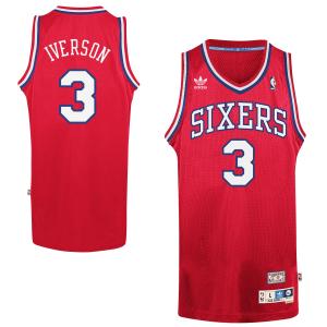 Allen Iverson Philadelphia 76ers adidas Hardwood Classics Swingman Jersey - Red
