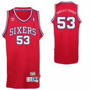 adidas Darryl Dawkins Philadelphia 76ers Chocolate Thunder Soul Swingman Nickname Jersey - Red