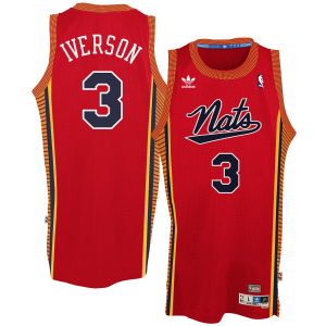 Allen Iverson Philadelphia 76ers adidas Hardwood Classics Swingman Jersey - Red-