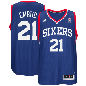 Joel Embiid Philadelphia 76ers adidas Youth Road Replica Jersey - Royal Blue