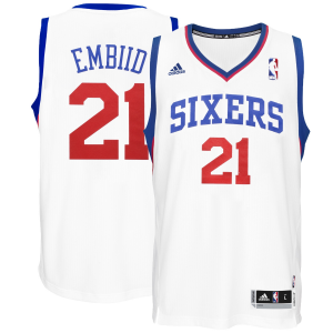 Joel Embiid Philadelphia 76ers adidas Youth Home Replica Jersey - White