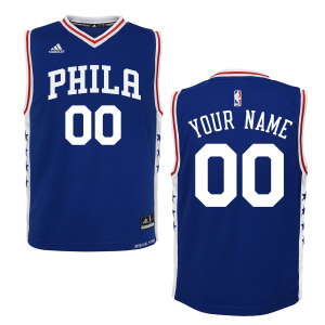 Philadelphia 76ers adidas Youth 2015 Custom Replica Road Jersey - Royal