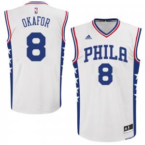 Jahlil Okafor Philadelphia 76ers adidas Replica Home Jersey - White
