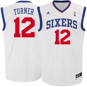 Evan Turner Philadelphia 76ers adidas Replica Home Jersey - White
