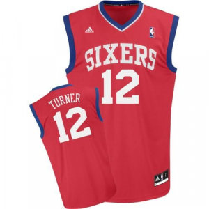 Evan Turner Philadelphia 76ers adidas Replica Road Jersey - Red
