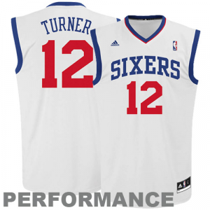 Evan Turner Philadelphia 76ers adidas Youth Replica Home Jersey - White