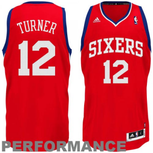 Evan Turner Philadelphia 76ers adidas Swingman Road Jersey - Red
