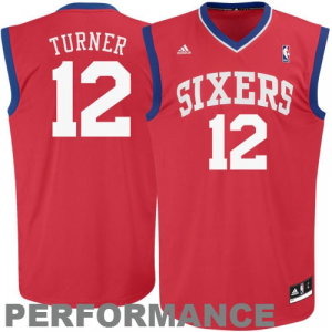 Evan Turner Philadelphia 76ers adidas Youth Replica Road Jersey - Red