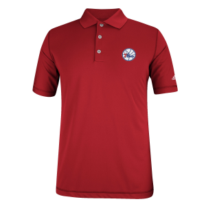 Philadelphia 76ers adidas Puremotion Solid Jersey Polo - Red