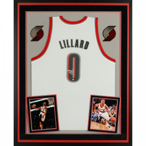 Damian Lillard Portland Trail Blazers Fanatics Authentic Deluxe Framed Autographed Adidas White Jersey