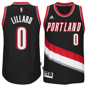 Damian Lillard Portland Trail Blazers adidas Player Swingman Road Jersey - Black