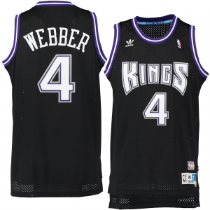 Chris Webber Sacramento Kings adidas Hardwood Classics Swingman Jersey - Black