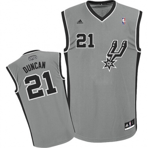 Tim Duncan San Antonio Spurs adidas Youth Replica Alternate Jersey