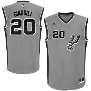 Manu Ginobili San Antonio Spurs adidas Youth Road Replica Jersey - Gray
