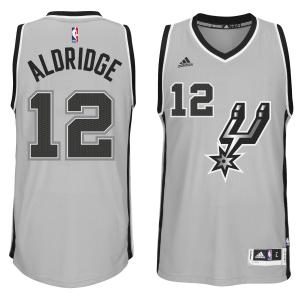 LaMarcus Aldridge San Antonio Spurs adidas Alternate Swingman climacool Jersey - Gray