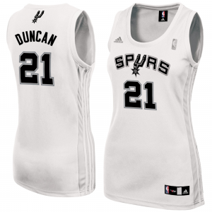 Tim Duncan San Antonio Spurs adidas Women's Fashion Replica Jersey - White