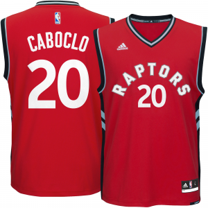 Men's Toronto Raptors Bruno Caboclo adidas Red Replica Jersey