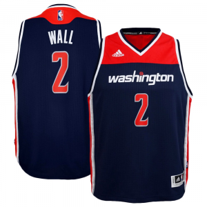 John Wall Washington Wizards adidas Youth 2014-15 New Swingman Alternate Jersey - Navy Blue