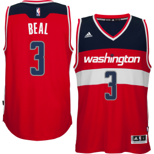 Bradley Beal Washington Wizards adidas Player Swingman Road Jersey - Red
