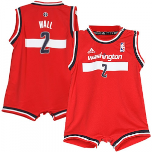 John Wall Washington Wizards adidas Infant Road Replica Jersey Romper - Red