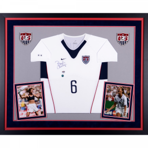 Brandi Chastain Team USA Fanatics Authentic Deluxe Framed Autographed Nike White Soccer Jersey