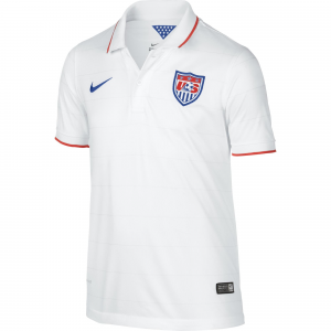 USA Youth Nike 2014 World Soccer Boys Home Replica Jersey  - White