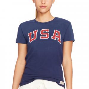 Team USA Polo Ralph Lauren Women's 2016 Olympics Jersey Knit T-Shirt - Navy