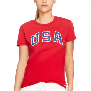 Team USA Polo Ralph Lauren Women's 2016 Olympics Jersey Knit T-Shirt - Red