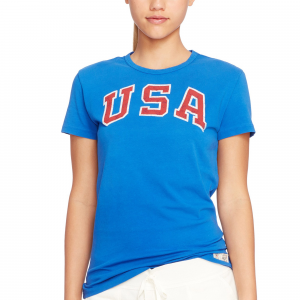 Team USA Polo Ralph Lauren Women's 2016 Olympics Jersey Knit T-Shirt - Royal