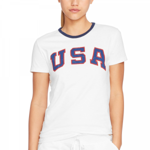 Team USA Polo Ralph Lauren Women's 2016 Olympics Jersey Knit T-Shirt - White