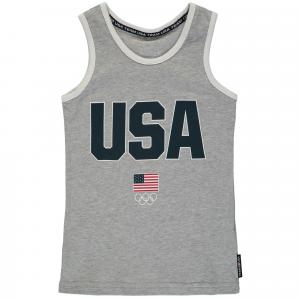 Team USA Youth Jersey Tank Top - Gray