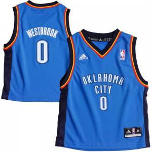 Russell Westbrook Oklahoma City Thunder adidas Toddler Replica Jersey - Light Blue