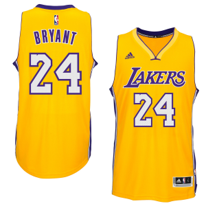 Kobe Bryant Los Angeles Lakers adidas Player Swingman Home Jersey - Gold Home