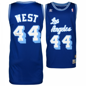 Jerry West Los Angeles Lakers Fanatics Authentic Autographed Blue Jersey