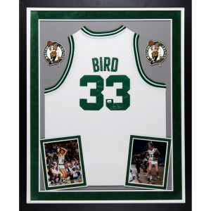 Larry Bird Boston Celtics Fanatics Authentic Deluxe Framed Autographed Adidas Swingman White Jersey