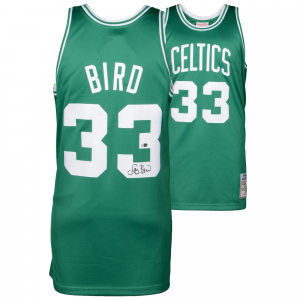 Larry Bird Boston Celtics Fanatics Authentic Autographed Green Authentic Mitchell and Ness Jersey