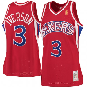 Allen Iverson Philadelphia 76ers Mitchell & Ness 1996-97 Hardwood Classics Rookie Authentic Jersey - Red