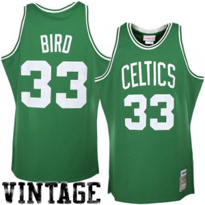 Mitchell & Ness Boston Celtics #33 Larry Bird Green Hardwood Classics Authentic Throwback Jersey